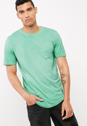 Only & Sons Matt Slim Longline Tee T-Shirts & Vests Green