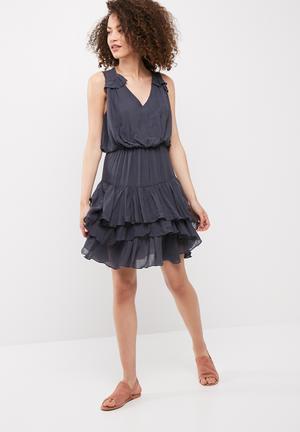 Vero Moda Eva Layer Dress Casual Navy Grey
