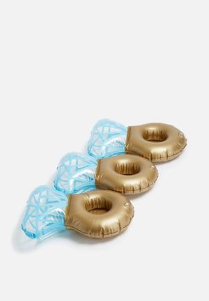 Big Mouth Bling Ring Drink Floats Pool & Fun Durable Vinyl
