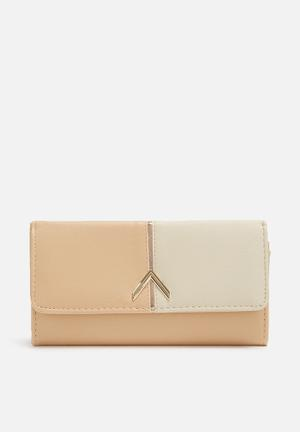 Dailyfriday Two-tone Wallet Bags & Purses Nude & Pink