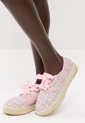 Dailyfriday Lace Up Espadrille Pumps & Flats Pink