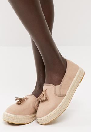 Dailyfriday Tassel Slip On Espadrille Pumps & Flats Pinkish Brown