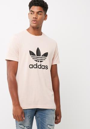 Adidas Originals Trefoil Tee T-Shirts Pale Pink