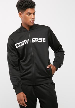 Converse Hybrid Knit Bomber Hoodies & Sweats Black