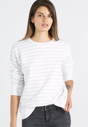 Cotton On Ferguson Graphic Crew T-Shirts, Vests & Camis White & Grey