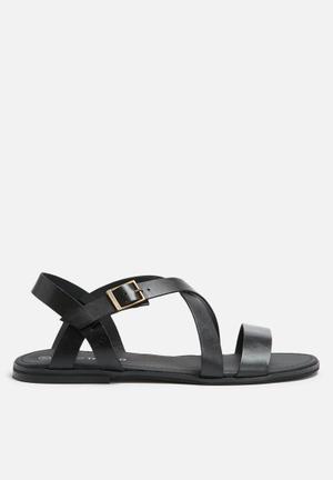 Basicthread Hamish Leather Sandals & Flip Flops Black