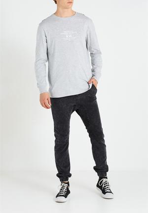 Cotton On Slim Denim Jogger Pants & Chinos Black