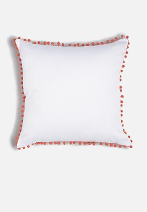 Sixth Floor Pom Pom Scatter Cushion Cotton Twill