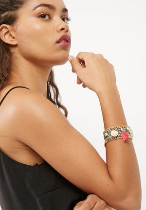 Dailyfriday Charm Bracelet Jewellery Green & Red