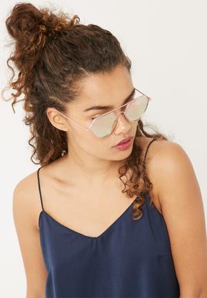 Miss Maxi Angled Aviator Eyewear Metal