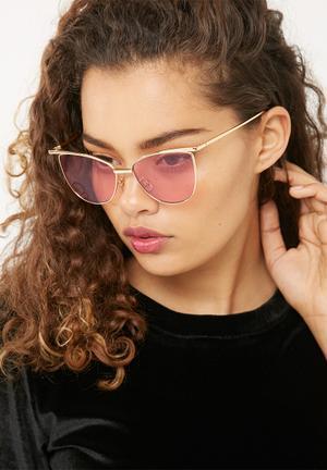 Miss Maxi Metal Cats Eye Eyewear Gold & Pink