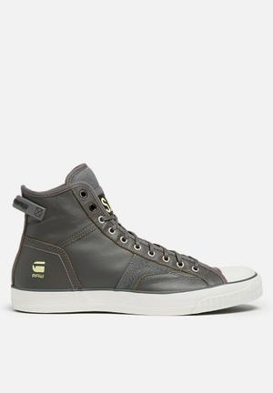 G-Star RAW Campus Raw Scott Hi Lthr Sneakers Grey