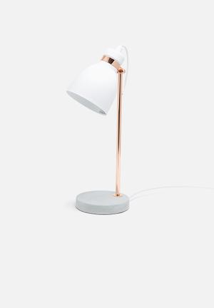 Illumina Alek Desk Lamp Lighting Metal & Concrete