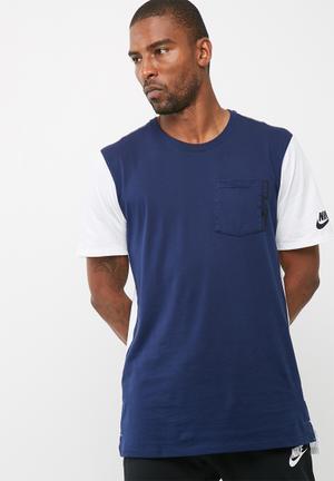 Nike AV15 Tee T-Shirts White & Blue