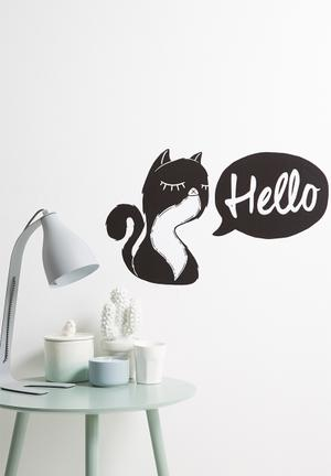 Sixth Floor Hello Catty Wall Decal Accessories Black