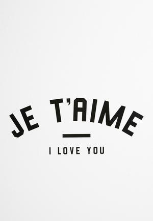 Sixth Floor Je T'aime Wall Decal Accessories Black