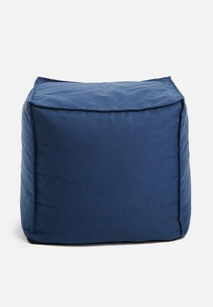 Sixth Floor Twill Ottoman Chairs & Stools Blue