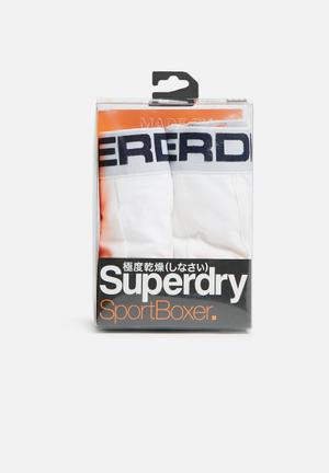 Superdry. Sport Boxer Double Pack Underwear White