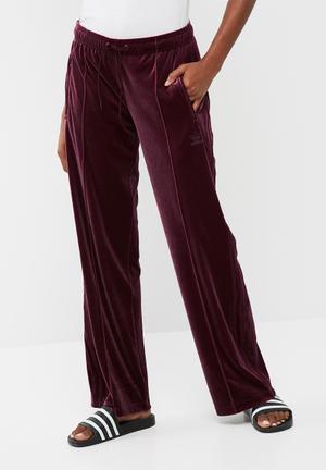 Adidas Originals Sailor Velour Pants Bottoms Plum