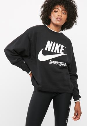 Nike Archive Crew Hoodies, Sweats & Jackets Black