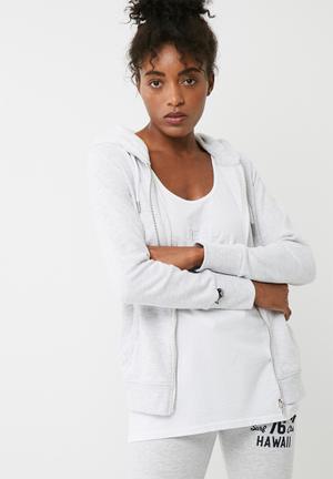 Superdry. Luxe Lite Edition Ziphood Jackets Grey Melange