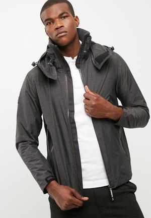 Superdry. Cliff Emboss Hiker Jackets Grey & Black
