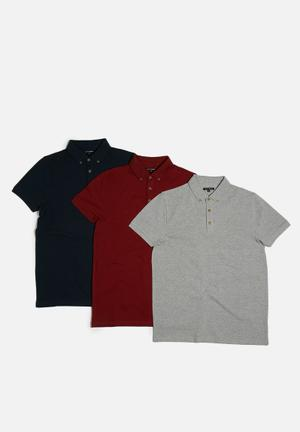 3 pack regular fit polo