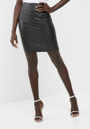 Dailyfriday PU Mini Skirt  Black