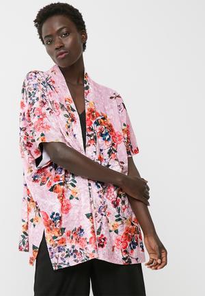 Dailyfriday Velvet Kimono Jackets Pink