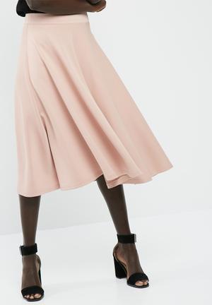 Dailyfriday Full Midi Scuba Skirt Pale Pink