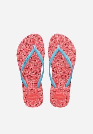 Havaianas Slim Romance Sandals & Flip Flops Coral