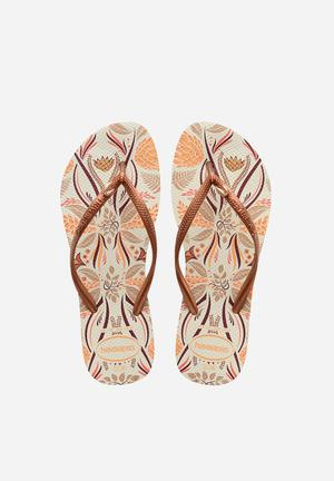 Havaianas Slim Royal Sandals & Flip Flops Cream