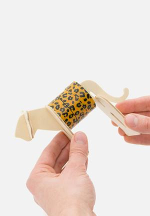 Luckies UK Wild Tape Leopard Gifting & Stationery Plywood & Paper Tape