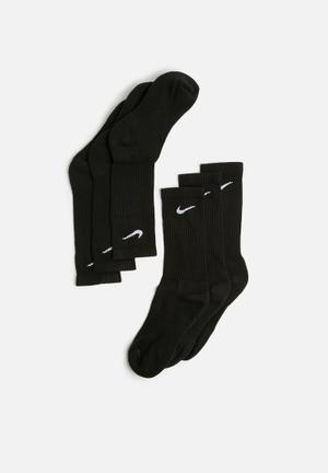 Nike Cush 3 Pack Socks Black