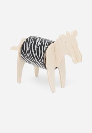 Luckies UK Wild Tape Zebra Gifting & Stationery Plywood & Paper Tape