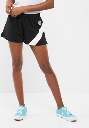 Converse Chevron Gym Shorts Bottoms Black & White