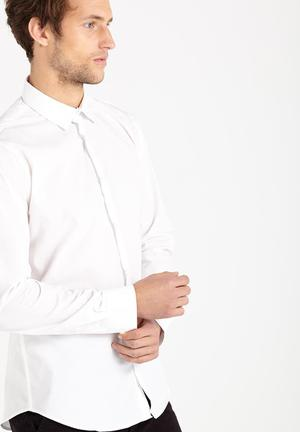 Cotton On Slim Smart Shirt White