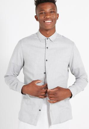 Cotton On Slim Smart Shirt Grey