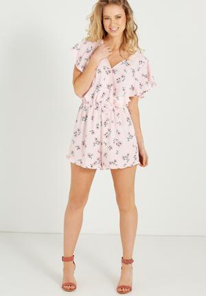 Cotton On Woven Rene Ruffle Playsuit Pink
