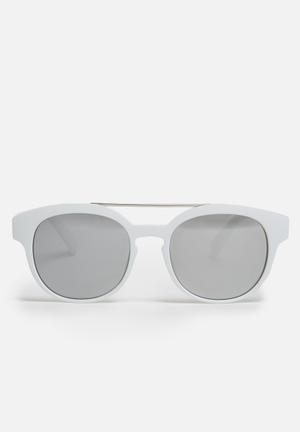 Mirror lens sunglasses - white
