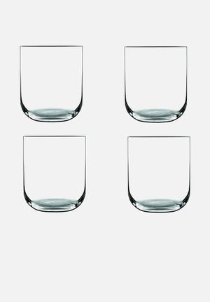 Luigi Bormioli Sublime Tumbler Set Of 4 Drinkware & Mugs Ultra Clear Lead Free Crystal Glass