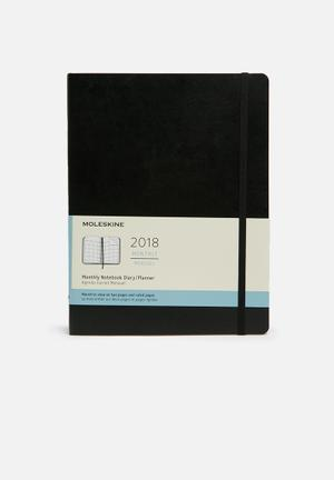 Moleskine 2018 A4 Softcover Monthly Notebook Gifting & Stationery Black