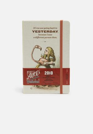 Moleskine 2018 A5 Hardcover Alice In Wonderland Limited Edition Daily Diary Gifting & Stationery Paper