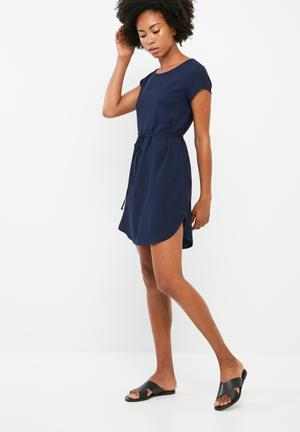 Dailyfriday Woven T-shirt Dress Formal Navy