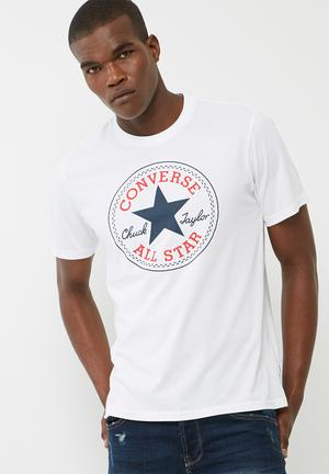 Converse Chuck Patch Tee T-Shirts & Vests White
