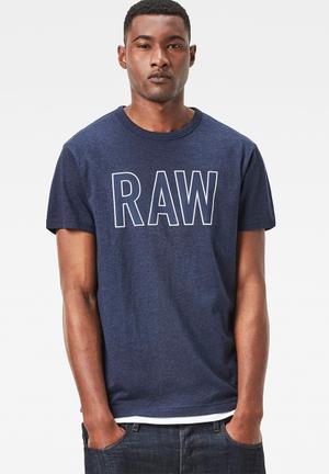 G-Star RAW Tomeo Tee T-Shirts & Vests Blue