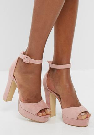 Footwork Leighton Heels Pale Pink