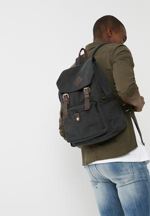 UNSEEN Herbert Backpack Bags & Wallets Black & Tan