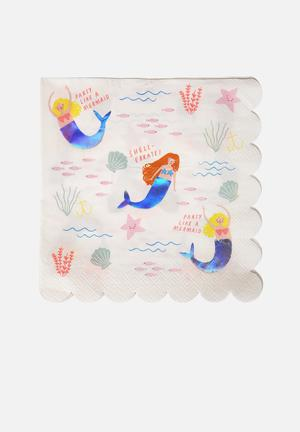 Lets be mermaids large napkin