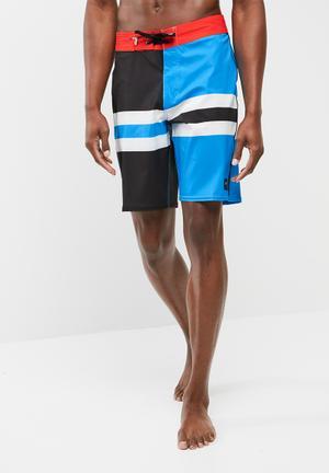 Vans Blue Stripe Swimshort Swimwear Blue, Black & Red